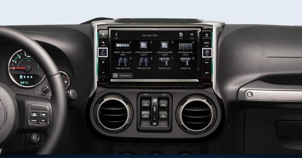 Alpine ajoute des nouvelles fonctionnalités à son autoradio Jeep Wrangler