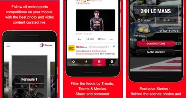 Total Live Racing : l'application pour être au cœur de la course