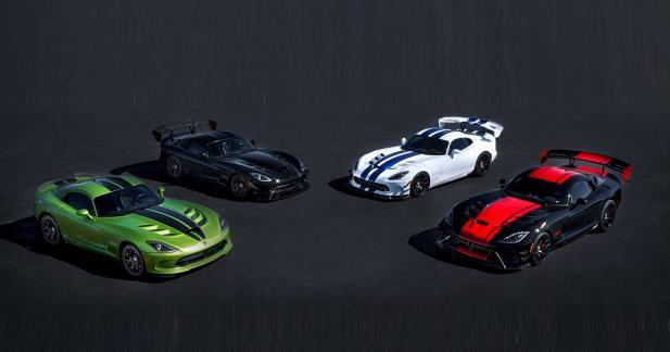 La Dodge Viper tire sa révérence avec cinq séries limitées