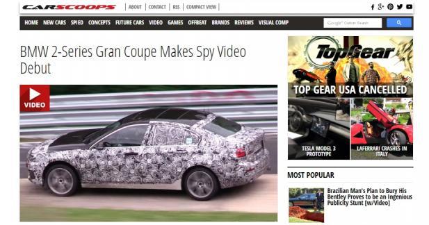 Première vidéo pour la BMW Série 2 Gran Coupé
