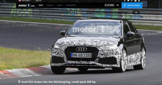 L'Audi RS3 Berline se prépare sur le Nürburgring