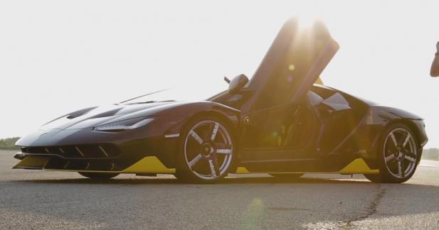 L'élitiste Lamborghini Centenario fait trembler le circuit de Nardo