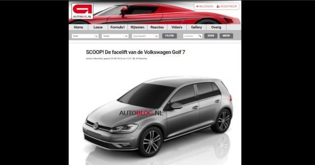 Volkswagen : la famille Golf restylée se montre avant l'heure