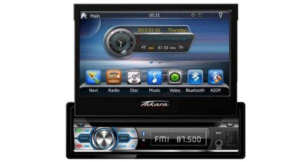 Un autoradio multimédia GPS 1 DIN à petit prix chez Takara