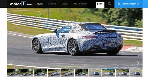 La Mercedes-AMG GT Roadster laisse entrevoir sa capote en toile