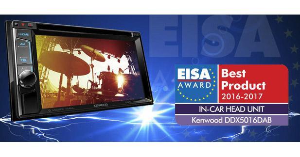 Le Kenwood DDX5016DAB élu autoradio de l'année à l'EISA 2016-2017