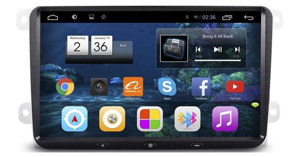 un autoradio android avec grand cran pour les golf 5 6. Black Bedroom Furniture Sets. Home Design Ideas
