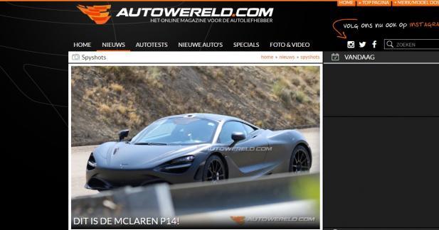 Une étrange McLaren s'est faite surprendre dans le trafic