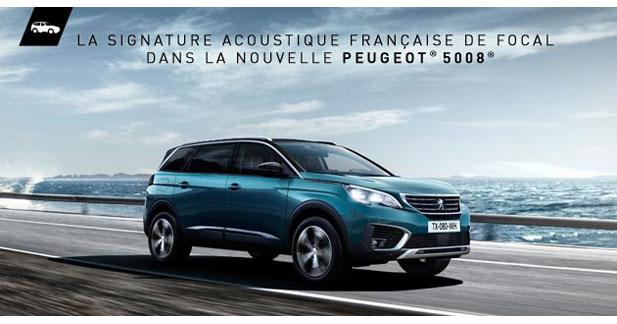 Le nouveau Peugeot 5008 bénéficiera d'une option hi-fi Focal en première monte