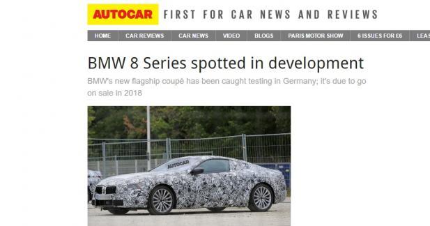 Serait-ce la toute nouvelle BMW Série 8 ?