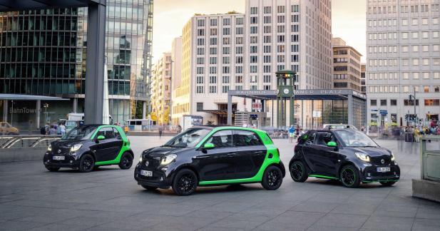 Les nouvelles Smart passent à l'électrique au Mondial