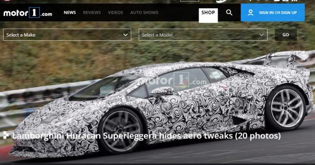 La Lamborghini Huracan Superleggera s'entraîne sur le Nürburgring