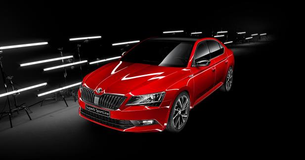 skoda superb sportline une version sportive pour 34 690 euros. Black Bedroom Furniture Sets. Home Design Ideas