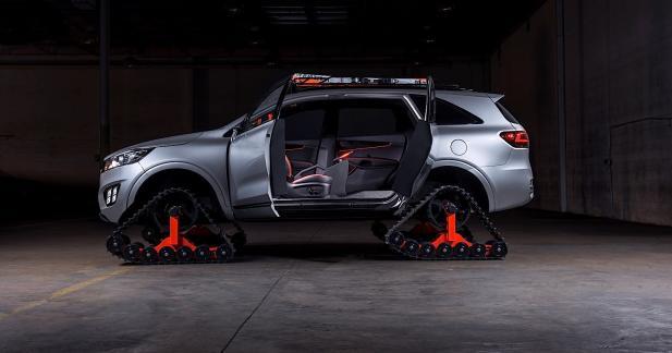 Kia Sorento Ski Gondola : des chenilles et une conduite 100% autonome