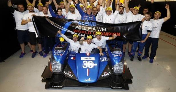 Le titre pour Alpine en LMP2