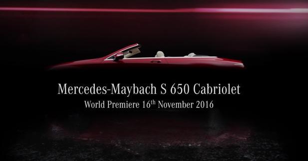 Maybach prépare une Mercedes Classe S Cabriolet ultra-exclusive