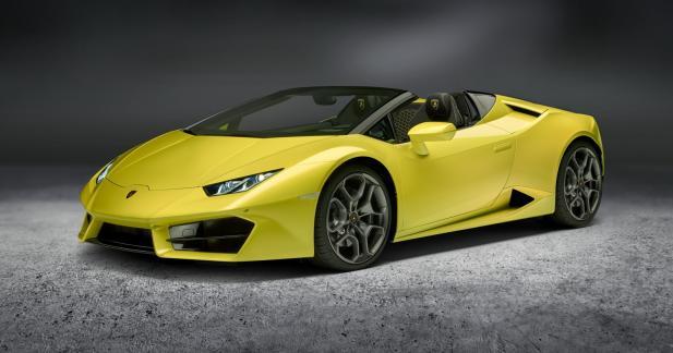 Lamborghini Huracan LP580-2 Spyder : sans toit ni transmission intégrale