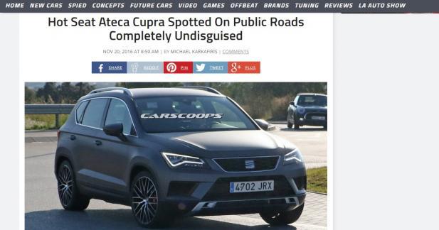 Le Seat Ateca Cupra est de sortie !
