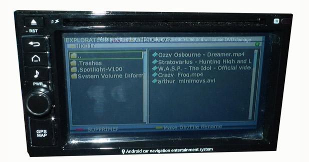 Le player USB lit les vidéos courantes comme les fichiers AVI