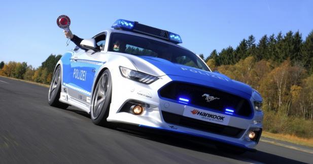 La police allemande roule en Mustang pour promouvoir le tuning