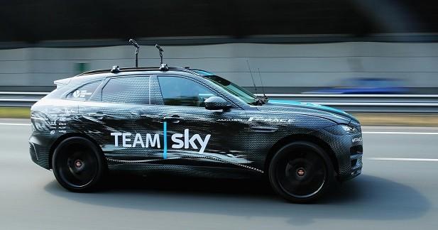 Jaguar F-Pace: la vidéo du SUV au Tour de France