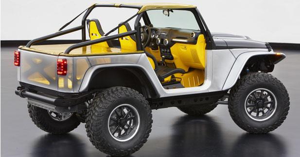 Jeep Wrangler Stitch : dépouillée