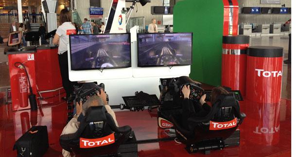 Total F1 en pole position à l'aéroport de Nice