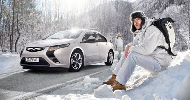 L'hiver tranquille en Opel Ampera