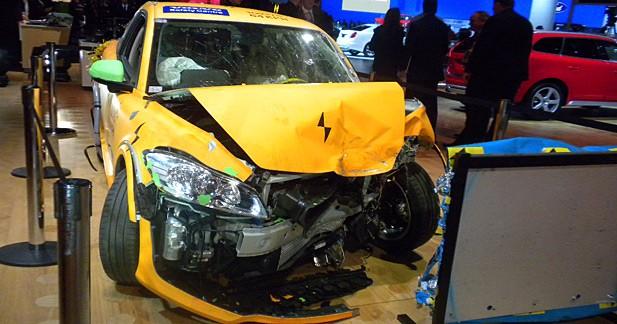 Volvo : une C30 électrique accidentée à Detroit
