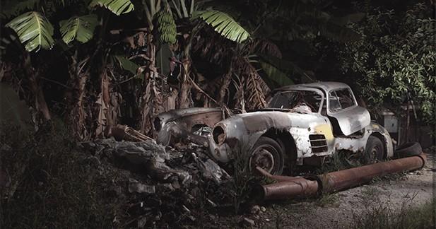 Un photographe découvre une Mercedes 300 SL Gullwing en pleine forêt