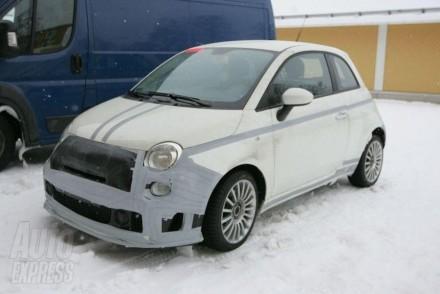 La Fiat 500 Abarth SS testée sur la neige