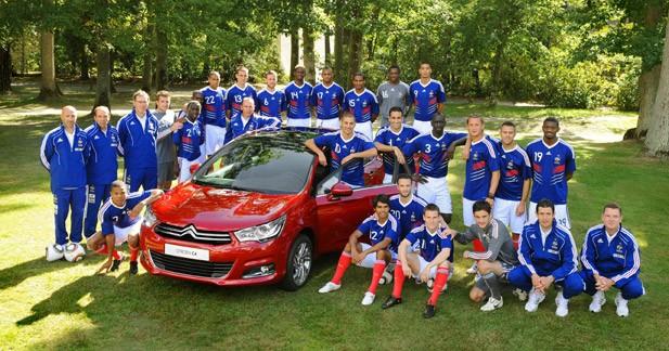 Citroën derrière les Bleus