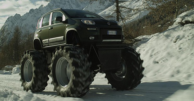 Insolite : une Panda 4x4 version Monster Truck