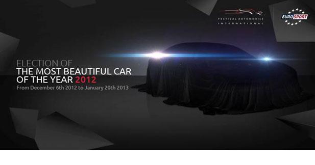 Plus que 5 prétendantes au titre de plus belle voiture de l'année 2012
