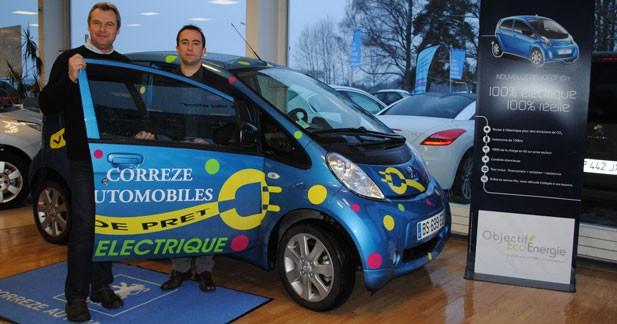 Une Peugeot iOn qui roule à l'électricité verte en Corrèze