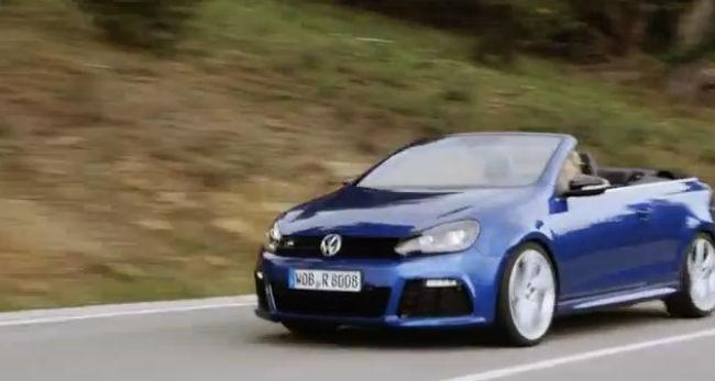 La Volkswagen Golf R Cabriolet se dévoile en vidéo