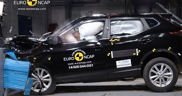 Le Nissan Qashqai, véhicule le plus sûr du segment C