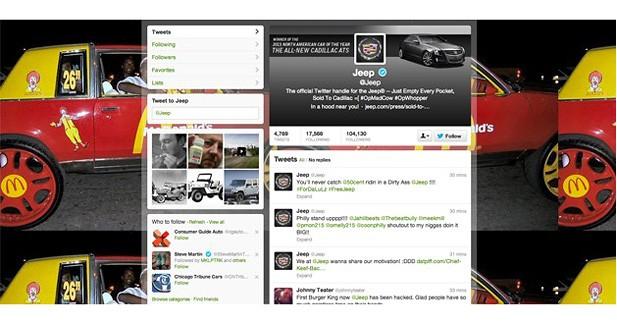 Piraté, le compte Twitter de Jeep annonçait le rachat de la marque par Cadillac