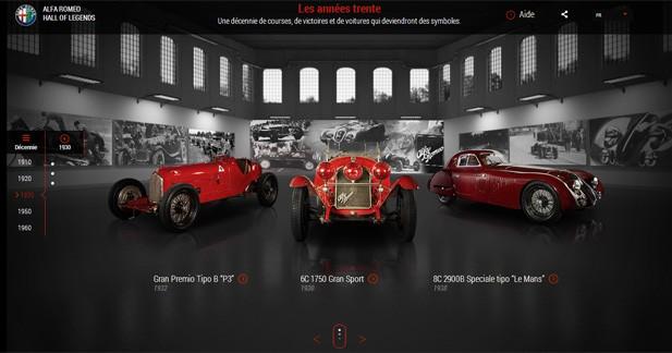 Réviser ses classiques sur le site d'Alfa Romeo