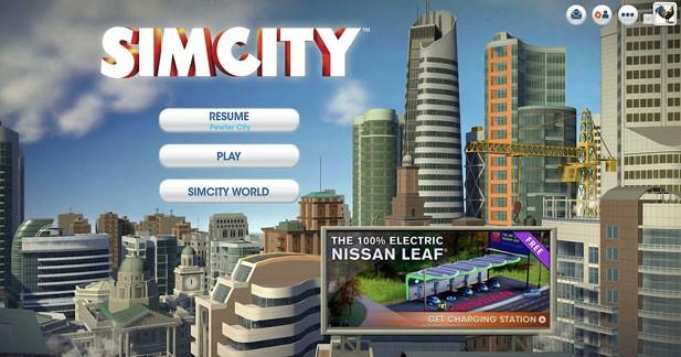La Nissan Leaf fait son entrée dans Sim City