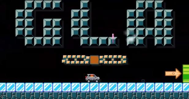 Le Mercedes GLA s'invite dans Super Mario Maker