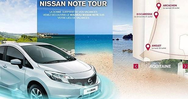 Le Nissan NOTE s'attaque aux plages françaises
