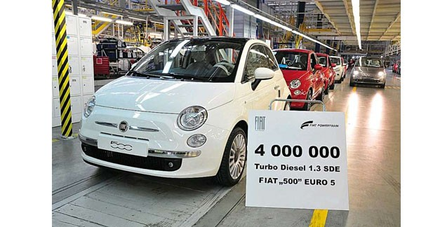 Fiat passe le cap des 4 millions de moteurs MultiJet