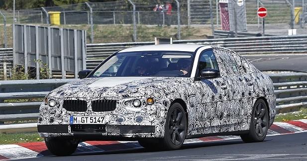 La future BMW Série 5 de sortie sur le Nürburgring