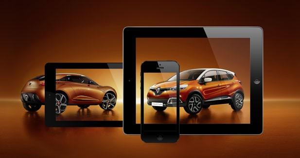 Renault dévoile la conception du Captur dans une application