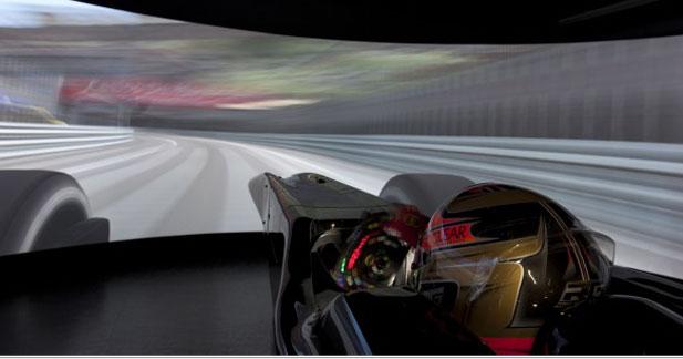 Le simulateur de Lotus F1 carbure à l'énergie solaire