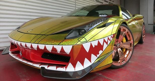Ferrari 458 Spider Golden Shark: concentré de mauvais goût en matière de tuning