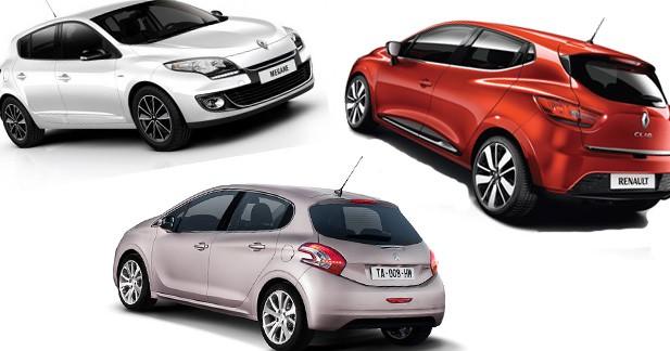Les 10 voitures les plus vendues en France en 2012