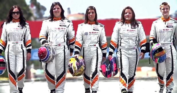 On ne voit pas souvent autant de féminines engagées dans une compétition automobile
