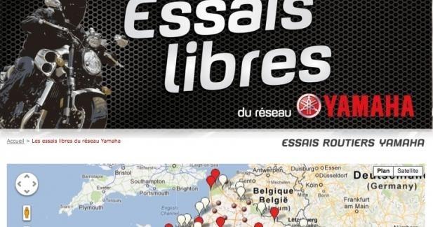 Les motos et les scooters Yamaha à l'essai dans toute la France
